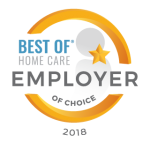 Best of Home Care - Employer of Choice 2018 badge